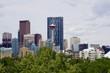 Skyline in Calgary, Alberta of downtown buildings