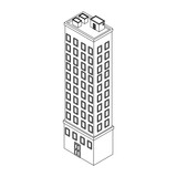 Company building isometric black and white - 237788053