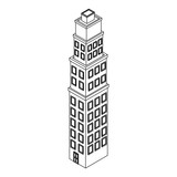 Company building isometric black and white - 237788070
