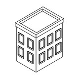 Company building isometric black and white - 237788207