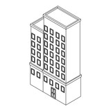 Company building isometric black and white - 237788255