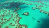 Aerial view Heart Island Great Barrier Reef Pacific Ocean Queensland Australia - 237789803