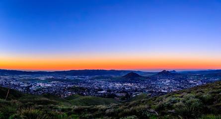 Panoramic Cityscape at Dawn, Sunrise © Mark
