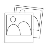 Landscape photos symbol black and white - 237801820