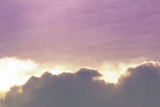 Color through clouds in the evening sky. - 237803883