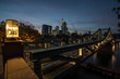 Iron bridge over the river Main in Frankfurt.
