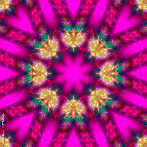 abstract digital kaleidoscope beautiful design, arabic - 237805076