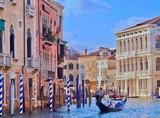 Canale Grande in Venedig mit einer Gondel