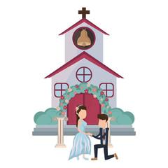 wedding couple cartoon © Jemastock