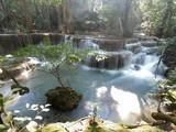 Floor 5-7 of HUAY MAEKAMIN  Waterfall  at KHUEANSRINAGARINDRA National Park , Kanchanaburi , Thailand.