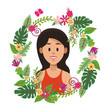 Woman face cartoon - 237827263