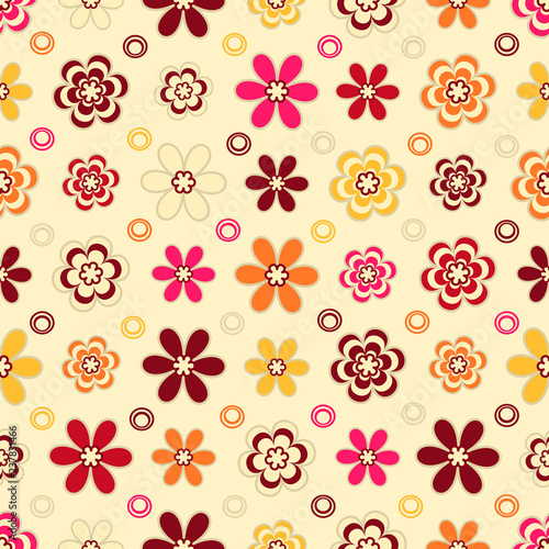 Seamless pattern with a floral pattern. - 237831466
