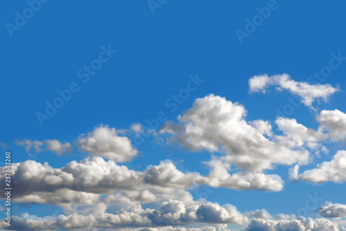 Clouds in blue sky. Background of heavenly pure nature. - 237843260