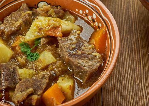 Leinwanddruck Bild Irish Lamb and Turnip Stew