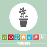 very Useful Vector Icon Of Flower Plant with Bonus Icons Very Useful For Mobile App, Software & Web