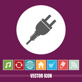very Useful Vector Icon Of Power Plug with Bonus Icons Very Useful For Mobile App, Software & Web - 237851820