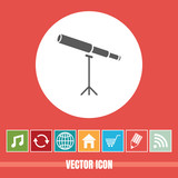 very Useful Vector Icon Of Telescope with Bonus Icons Very Useful For Mobile App, Software & Web © bharatmanoj