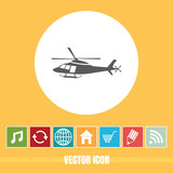 Very Useful Vector Icon Of Helicopter with Bonus Icons. Very Useful For Mobile App, Software & Web.