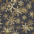 Golden Snowflakes Decoration - 237858058