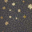 Golden Snowflakes Decoration - 237858209