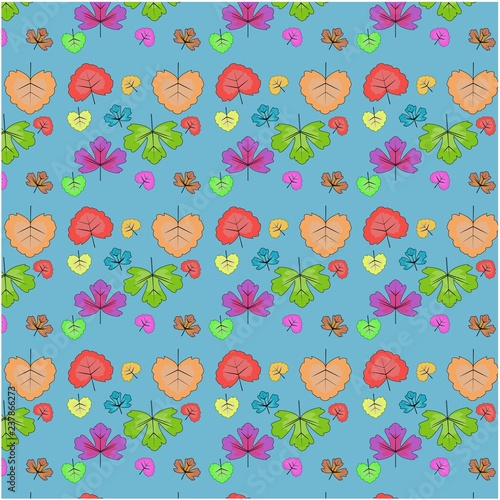 Vector seamless pattern of leaves - 237866273