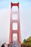 Golden Gate Bridge view at foggy morning © haveseen
