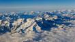 flight plane window view alps landscape - 237873027