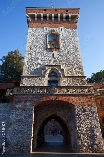 St Florian Gate in Krakow