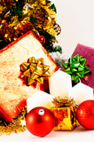 Close up of Christmas decoration on white backgrounds