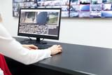 Surveillance control room operator at work