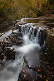 Sgwd y Pannwr Waterfall (Fall of the Fuller), on the Four Falls Trail, Brecon Beacons National Park, Wales