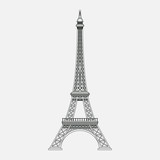a realistic image of the Eiffel Tower, a sightseeing paris, a sy