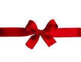 Shiny red satin ribbon bow - 237941206