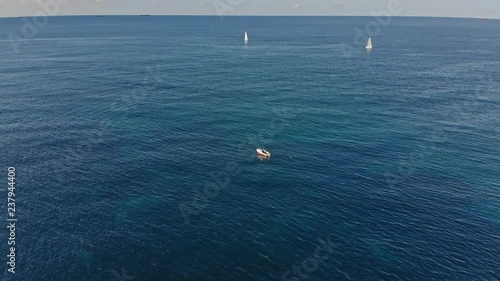 Sailing boat on the sea