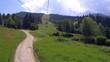 The ski lift up to horses waterfall Romania.