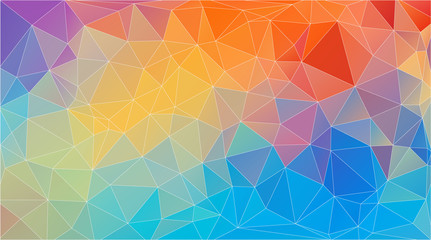 Flat triangle multicolor geometric wallpaper