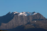 Snow-covered mountain tops. Orsta, Norway