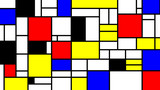 Neoplasticism imittation pattern, Piet Mondrian style. Large size background texture