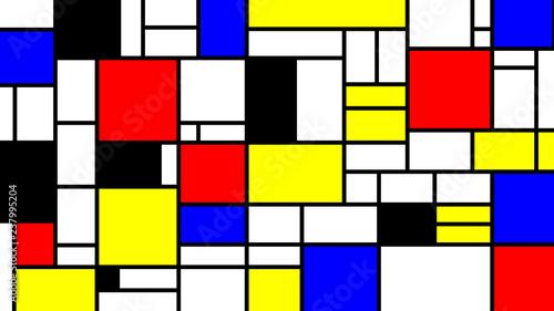 Neoplasticism imittation pattern, Piet Mondrian style. Large size background texture © Roman