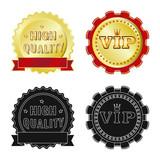 Vector illustration of emblem and badge logo. Collection of emblem and sticker stock vector illustration. - 237995490