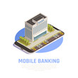 Online Banking Isometric Composition