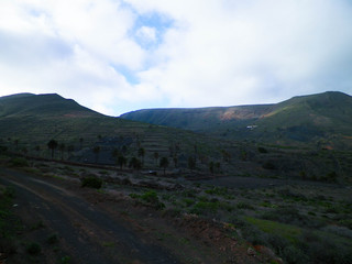 Mountain landscape of north part of Lanzarote island.