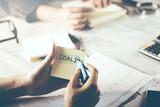 hand written goals text - 238020223
