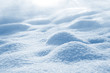 Leinwanddruck Bild - Natural background of pure shiny snow with snowdrifts. Snow landscape