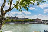 Clouds over Seine river in Paris