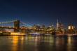 Manhatan and Brooklyn Bridge at Night. New York City, United States of America - 238027286