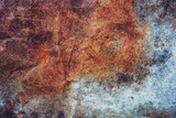 Old grunge zinc and rusty background texture with copy space. - 238033465
