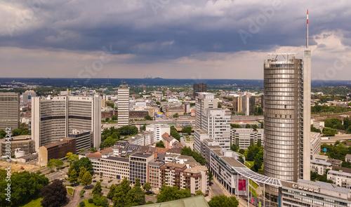 canvas print picture Skyline der Stadt Essen im Ruhrgebiet (Deutschland)