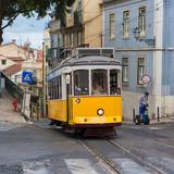 Old tram in lisbon, Portugal