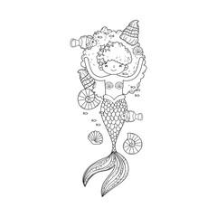cute mermaid fairy tales © Stockgiu